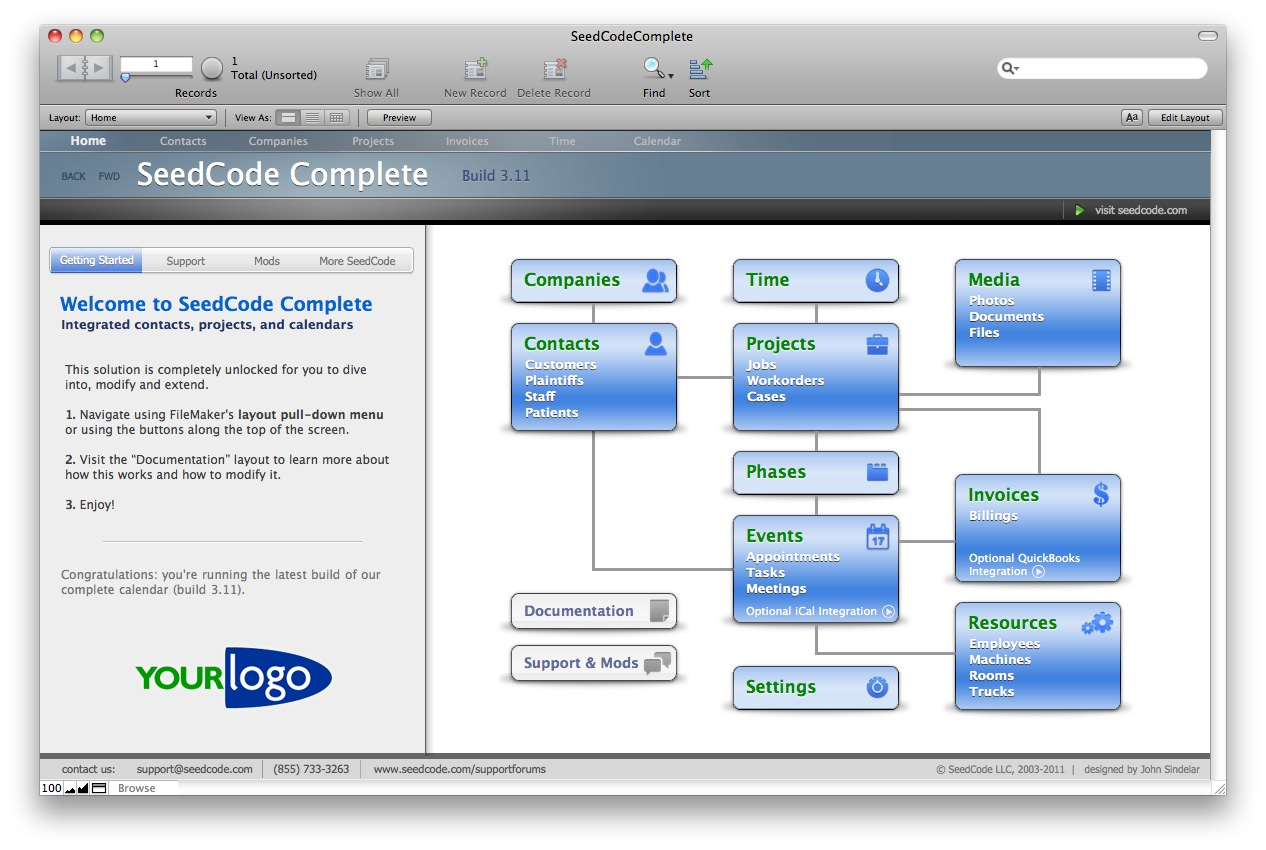 seedcode documentation seedcodecomplete2 navigation bar this map is a simple set of filemaker objects that you can move around rename and extend each box is a filemaker button with a transparent graphic on top