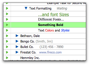 Formatting FileMaker data in the Hierarchy