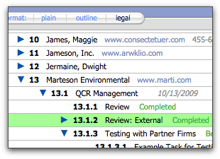 FileMaker Records in Legal Format