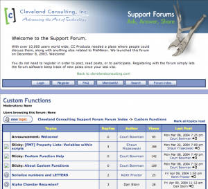 FileMaker Custom Functions Forum