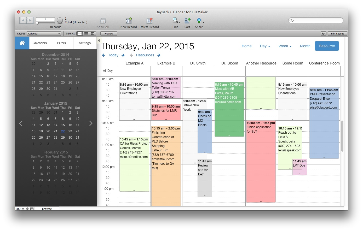 filemaker pro calendar template free - filemaker custom web publishing with javascript seedcode
