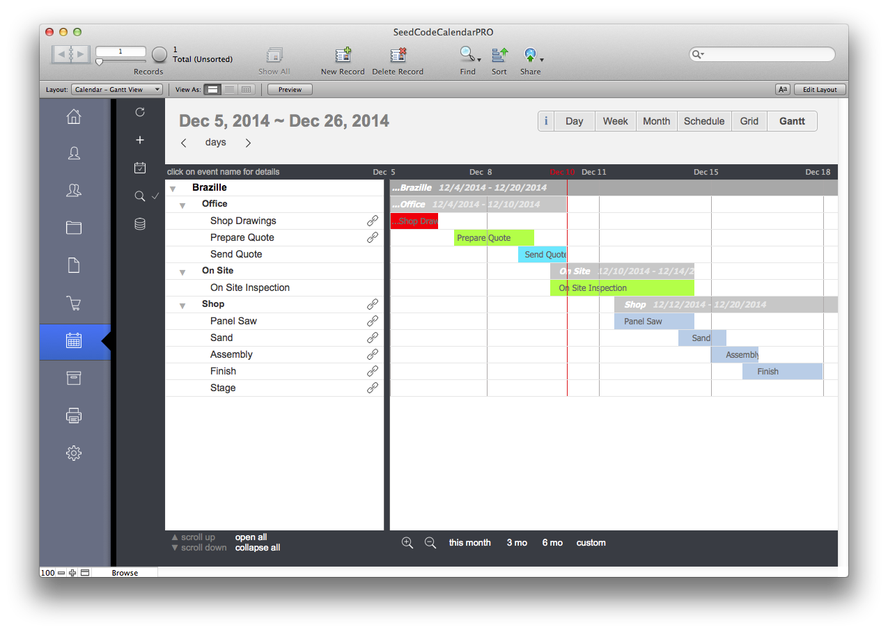 Filemaker pro calendar template free images template for Filemaker pro 12 templates