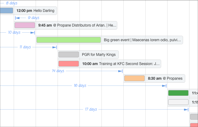 Preview Gantt Charts For Filemaker Seedcode