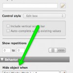 Hiding objects in FileMaker 13
