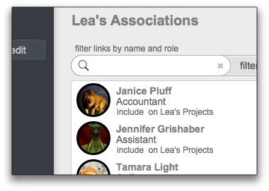 Linked Contacts & Associations