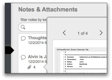 Contact Notes & Attachments