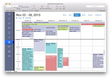 Calendar & Resource Scheduling