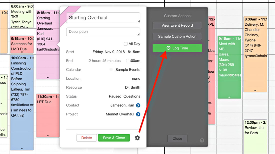 Log Time with a button in FileMaker