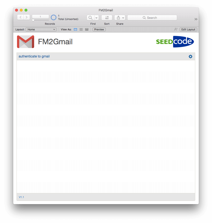 Integrating FileMaker and Gmail - Example File
