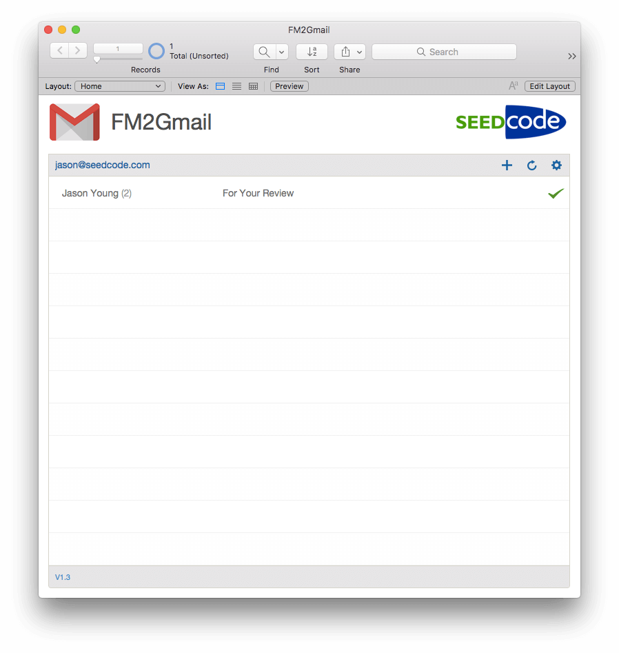 FileMaker Gmail Integration Example File