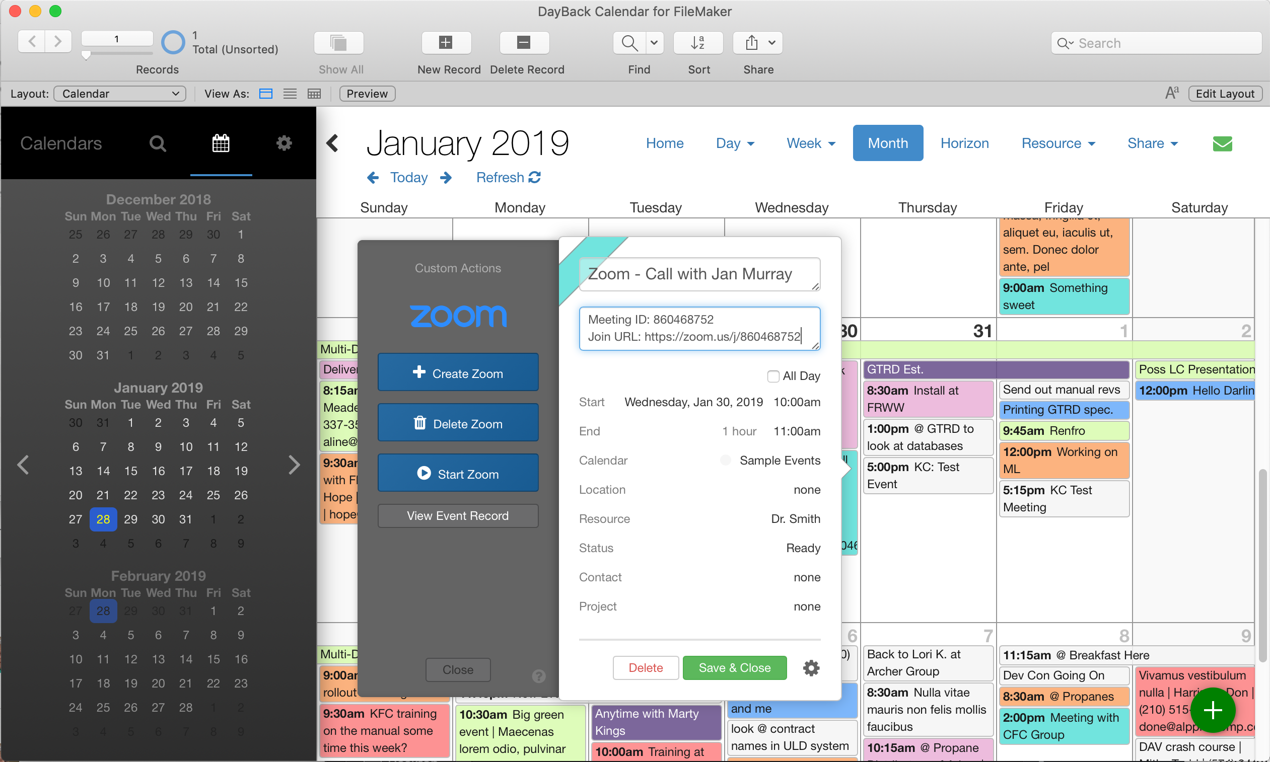 Zoom Meetings for FileMaker