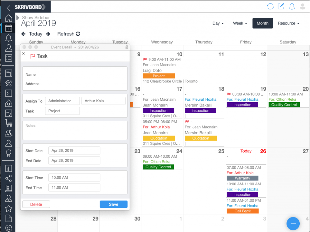 FileMaker Layout in DayBack Calendar