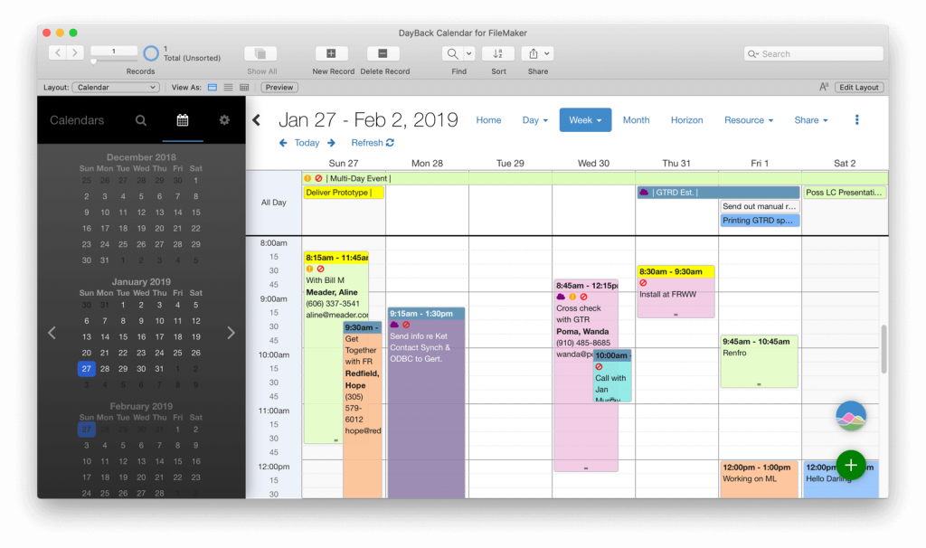 Icons for your FileMaker Calendar