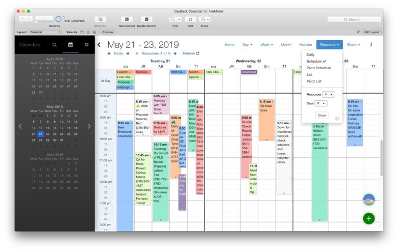 Multi-Day Resource Scheduling
