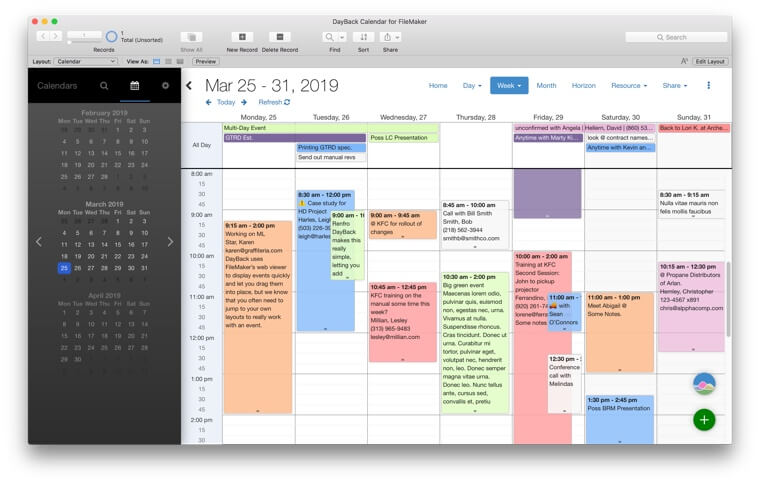 Week View - As a Schedule