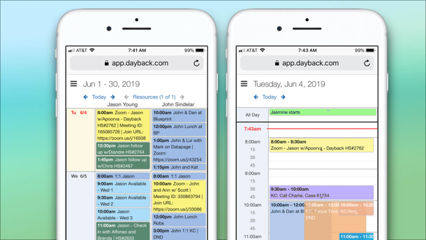 Mobile calendar for FileMaker Go