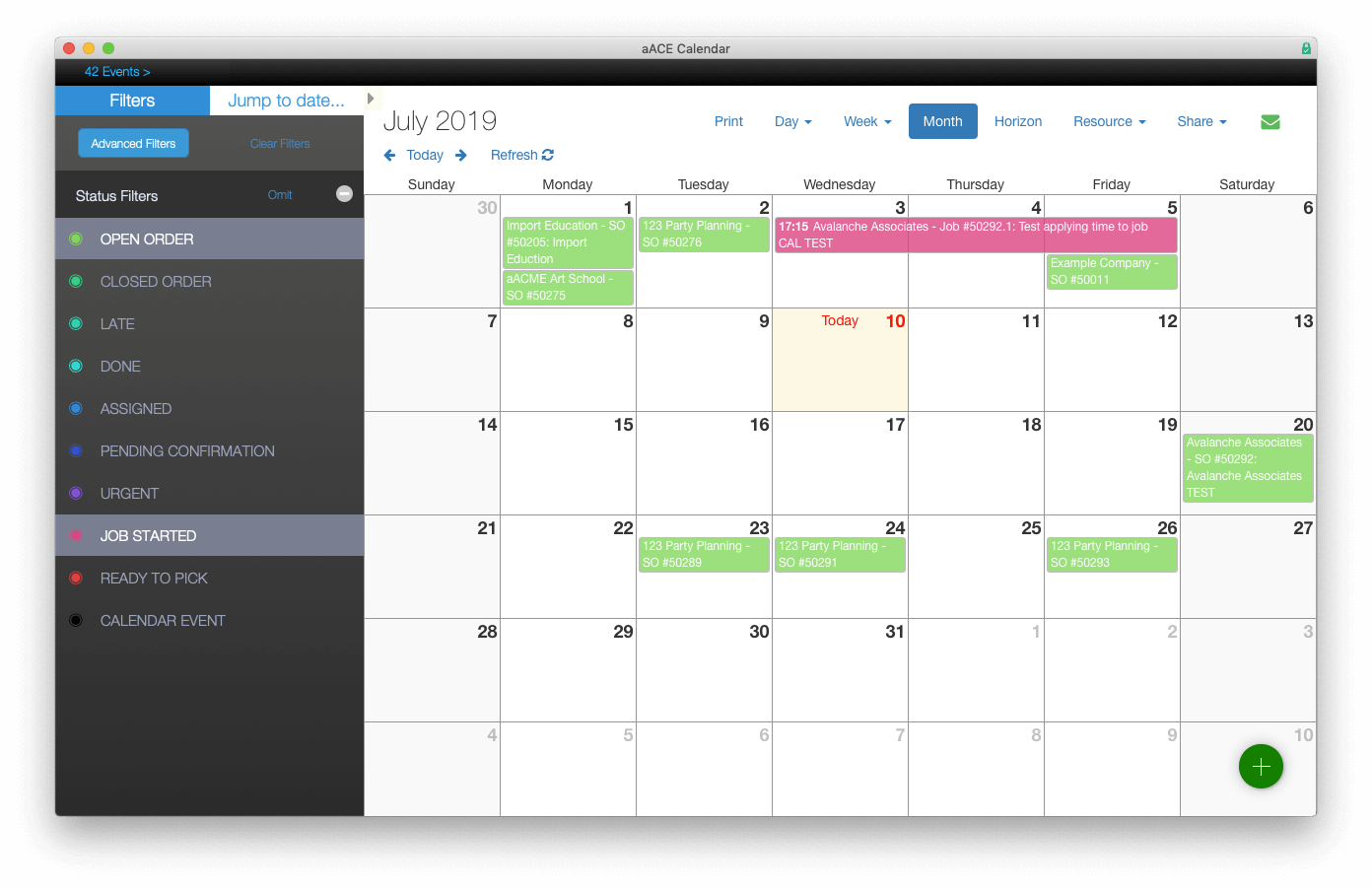 FileMaker Calendar Sidebar