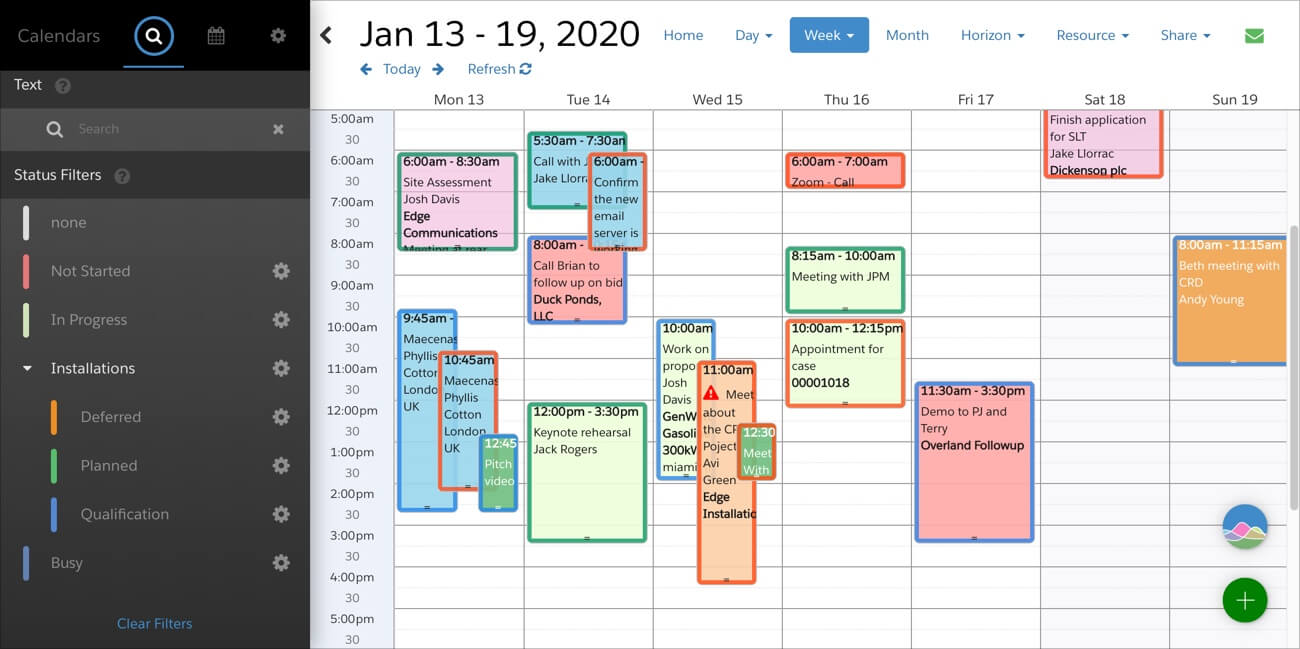 FileMaker Calendar Color Coding
