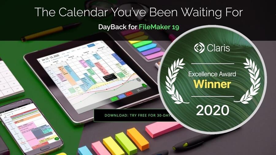 DayBack FileMaker Calendar Award